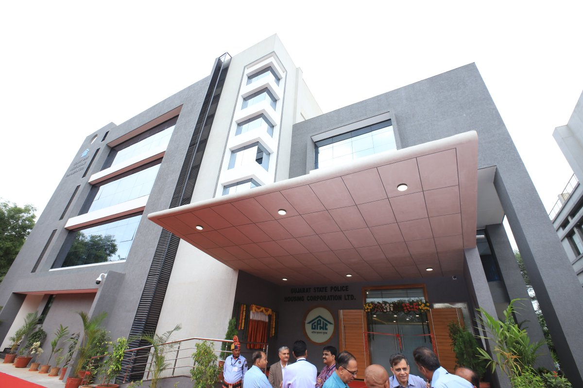 Rupani opens Rs.8.70 crore new building for Gujarat Police Housing Corporation HQ