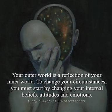 Risultati immagini per when your inner world comes into order your outer world will come into order