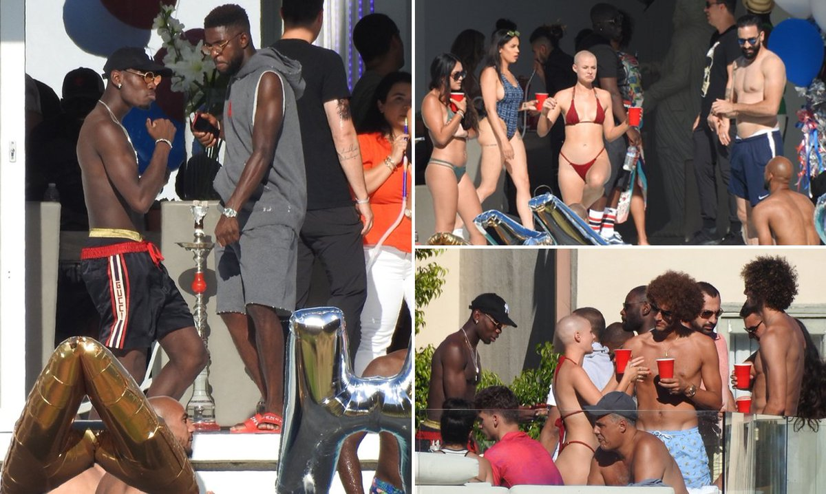 "MailOnline Sport on Twitter: ""Paul Pogba hosts pool party ..."