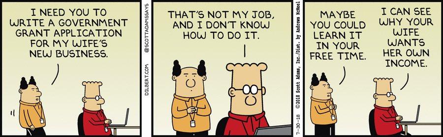 Dilbert : Grant application Dilbert | Robert Went | Scoopnest