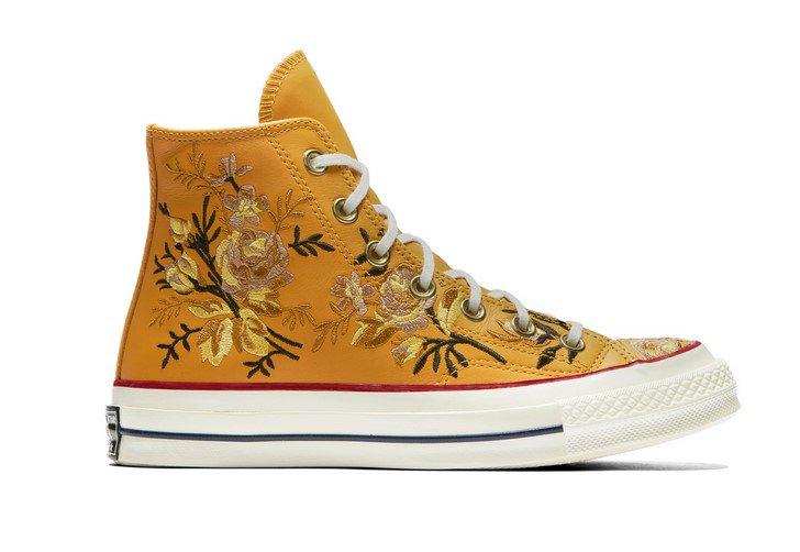 d9bd488e115e Converse Chuck 70 Floral Leather High Top turmeric gold teak egret pas cher  prix