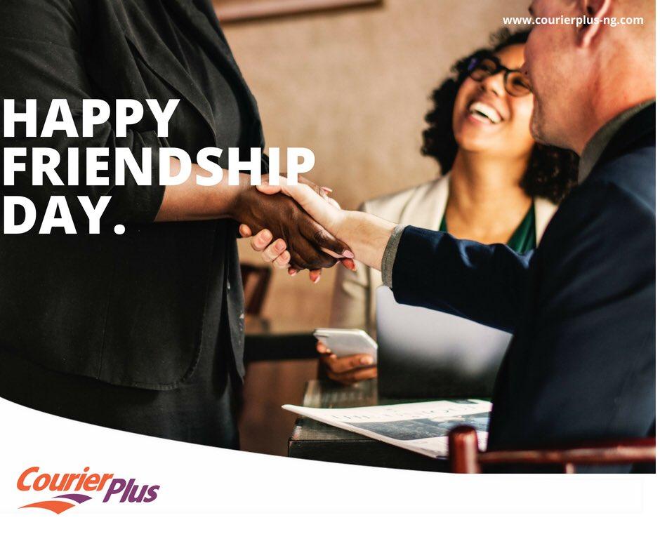 ALL LASTING BUSINESS IS BUILT ON FRIENDSHIP. #internationalfriendshipday #mondaymotivation #courierplus