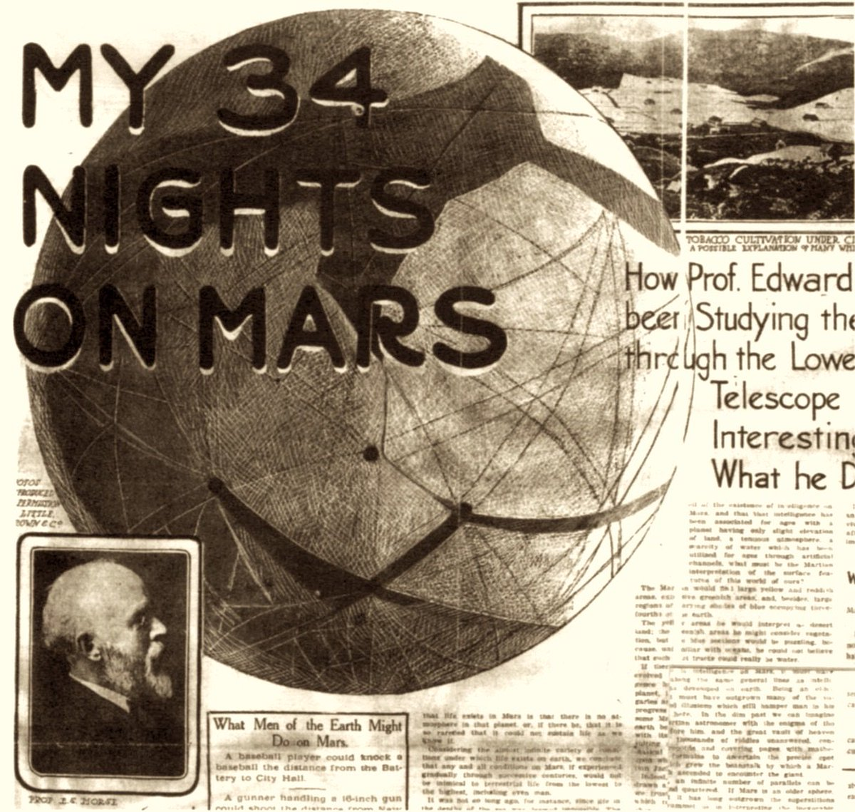 in 1905 percival lowell predicted where