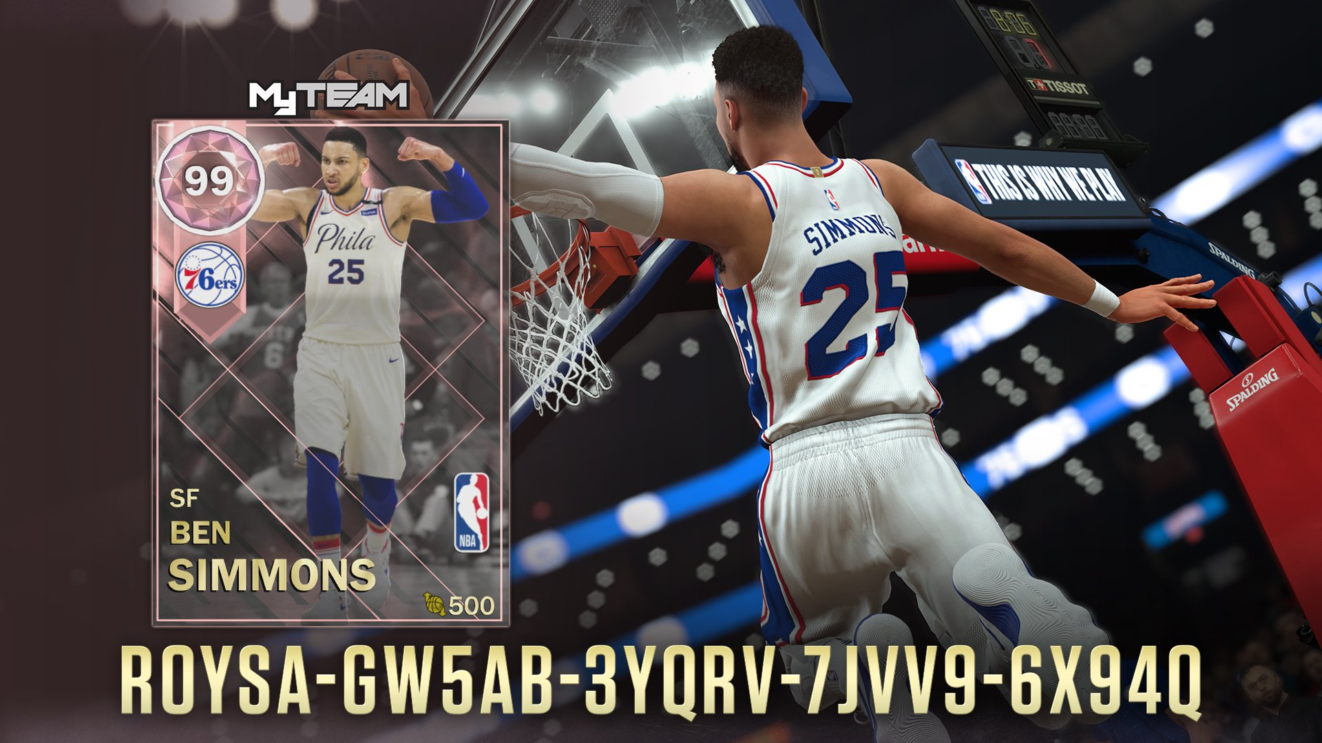 7767f194f8d4 Pink Diamond Ben Simmons Code!   NBA2k