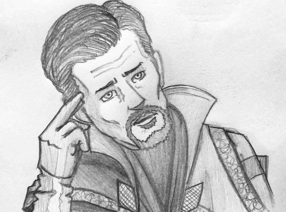 Josh lines on twitter pencil sketches of doctor strange a scene from thor ragnarok i used a mechanical pencil marvel marvelstudios taikawaititi