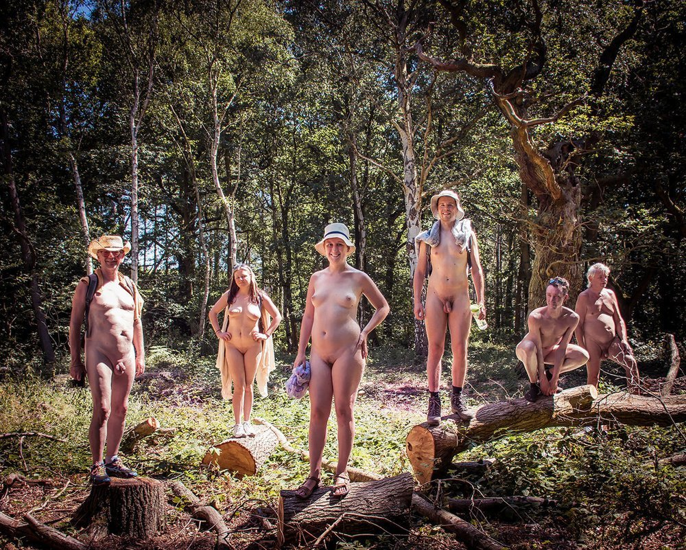 Living in a nudist community naked