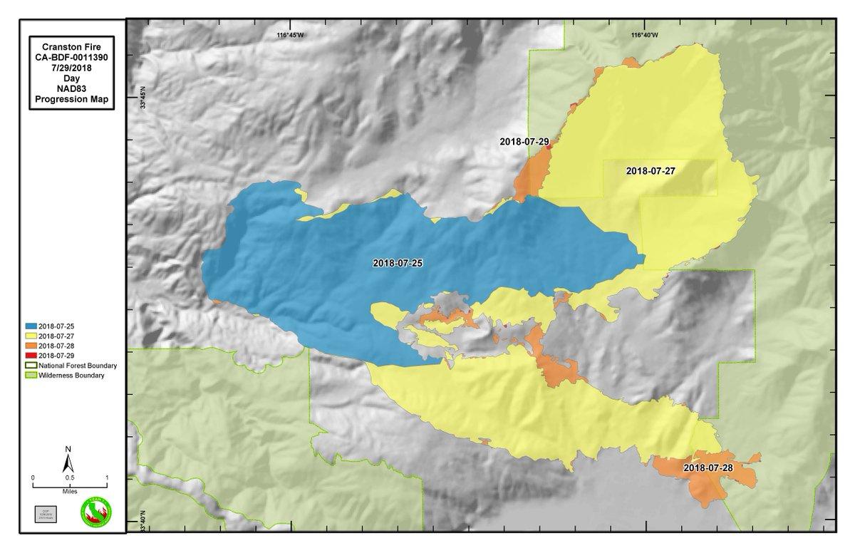 National Fire Map 2018.San Bernardino National Forest On Twitter Cranstonfire Infrared