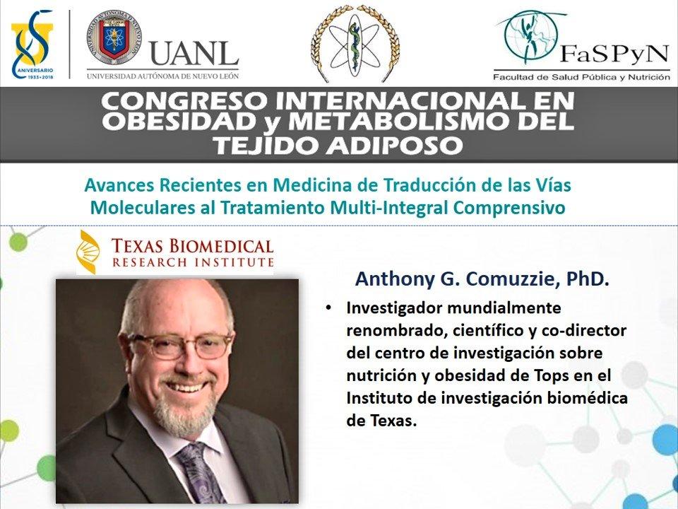 d17a98ec272d ... Sociedad de Obesidad como conferencista magistral en el Congreso  Internacional de Obesidad y Metabolismo del Tejido Adiposo. Ponentes de  nivel mundial.
