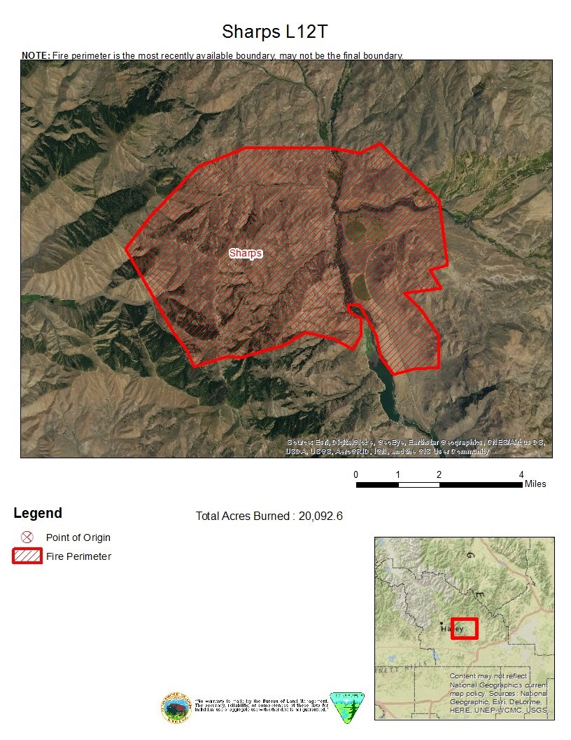 Bureau Of Land Management Idaho Fire On Twitter Sharpsfire Est
