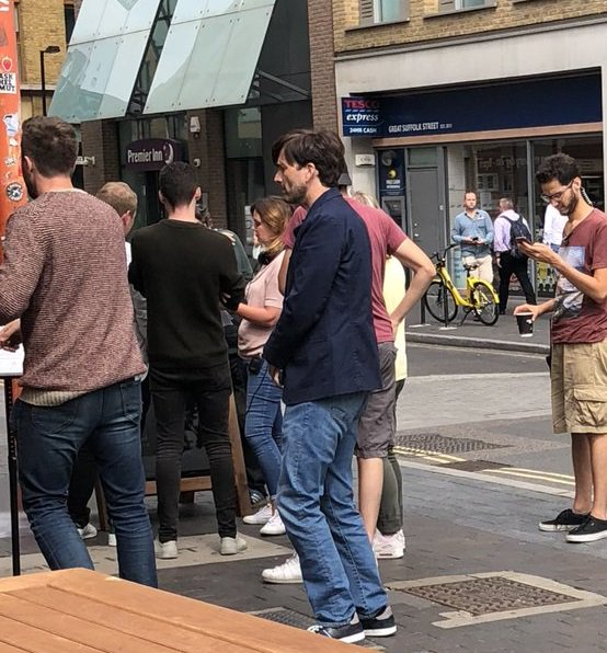 David Tennant filming There She Goes - Southwark, London on Monday 30th July 2018