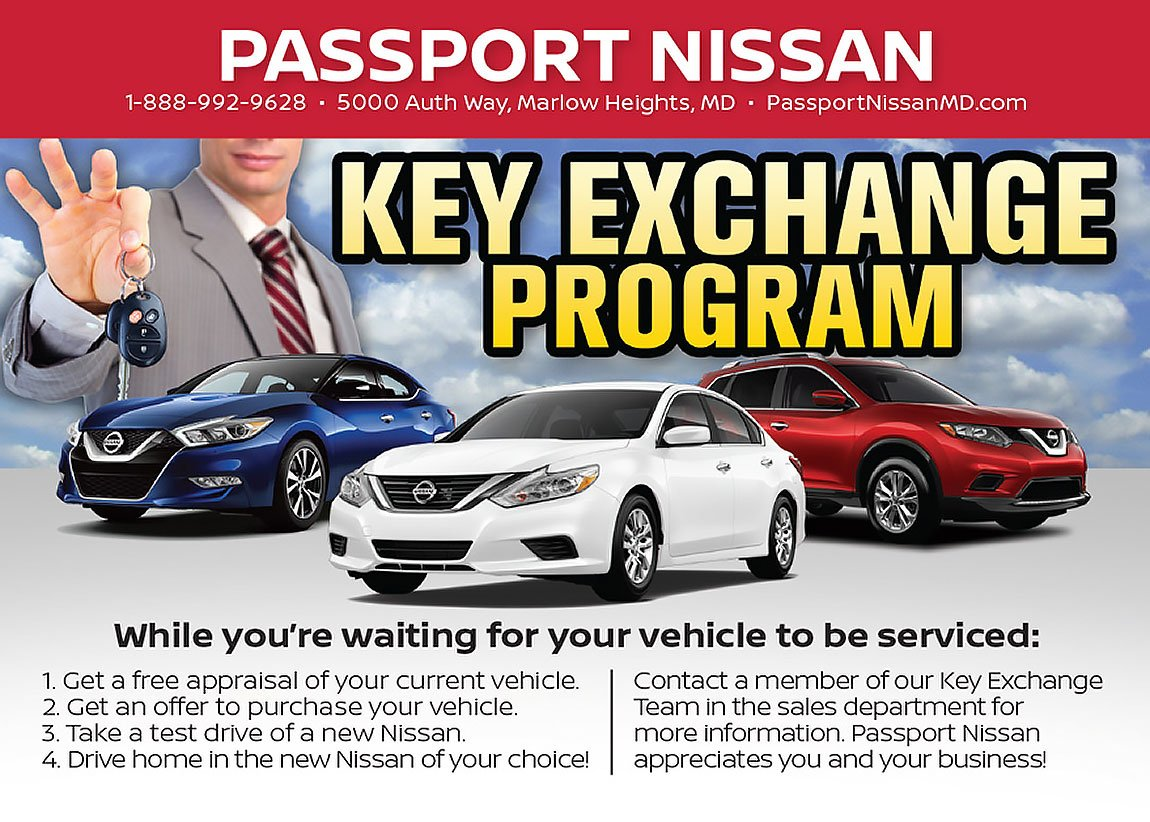 #Nissan Key Exchange Program At Passport Nissan MD Http://ow.ly/7aTe30lbjjq  Pic.twitter.com/LZGTTQCHxG