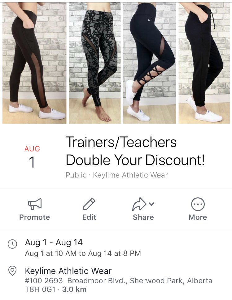 d5283f726c Hey did you know instructors/trainers/teachers receive 15% off at KEYLIME?  But for the month of August we are doubling your discount!! ...