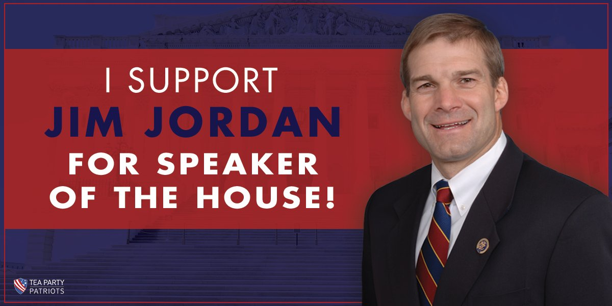 Let everyone know you support @Jim_Jordan for conservative Speaker of the House! #TeaParty