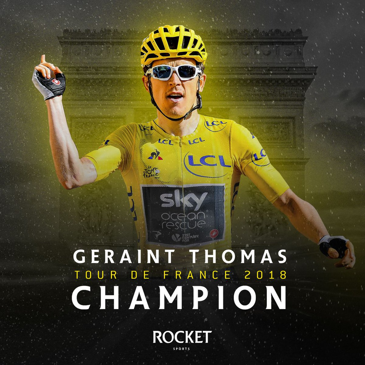 Vive le Tour! #Winner #GeraintThomas #tdf2018 #Rocket Sports