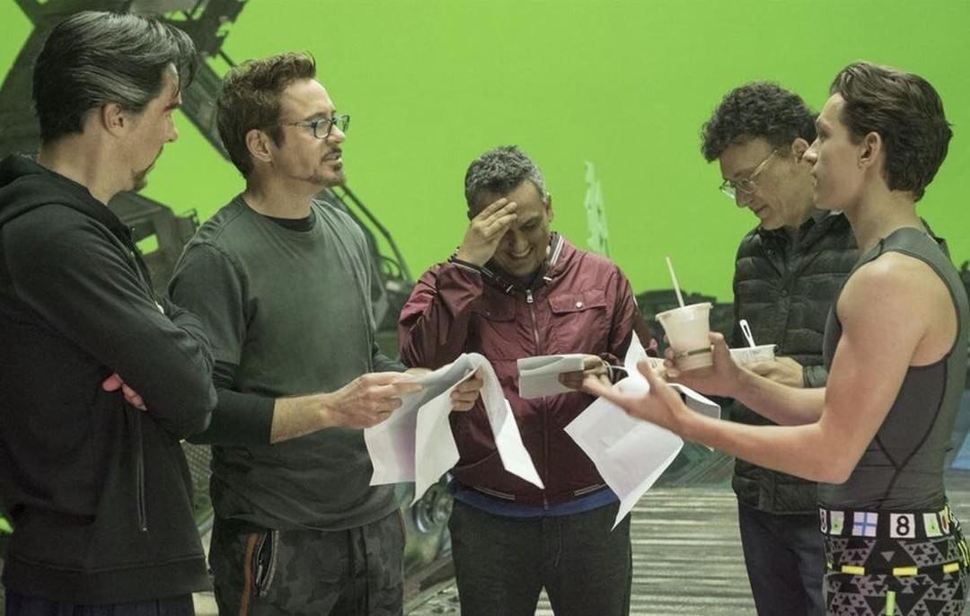 Behind the scenes. #InfinityWar