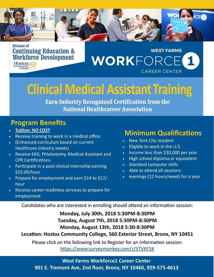 Hostos College On Twitter Jumpstart Your Career In Healthcare By