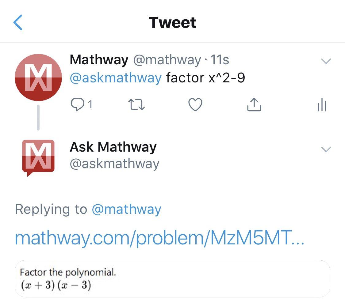 Mathway (@mathway)   Twitter