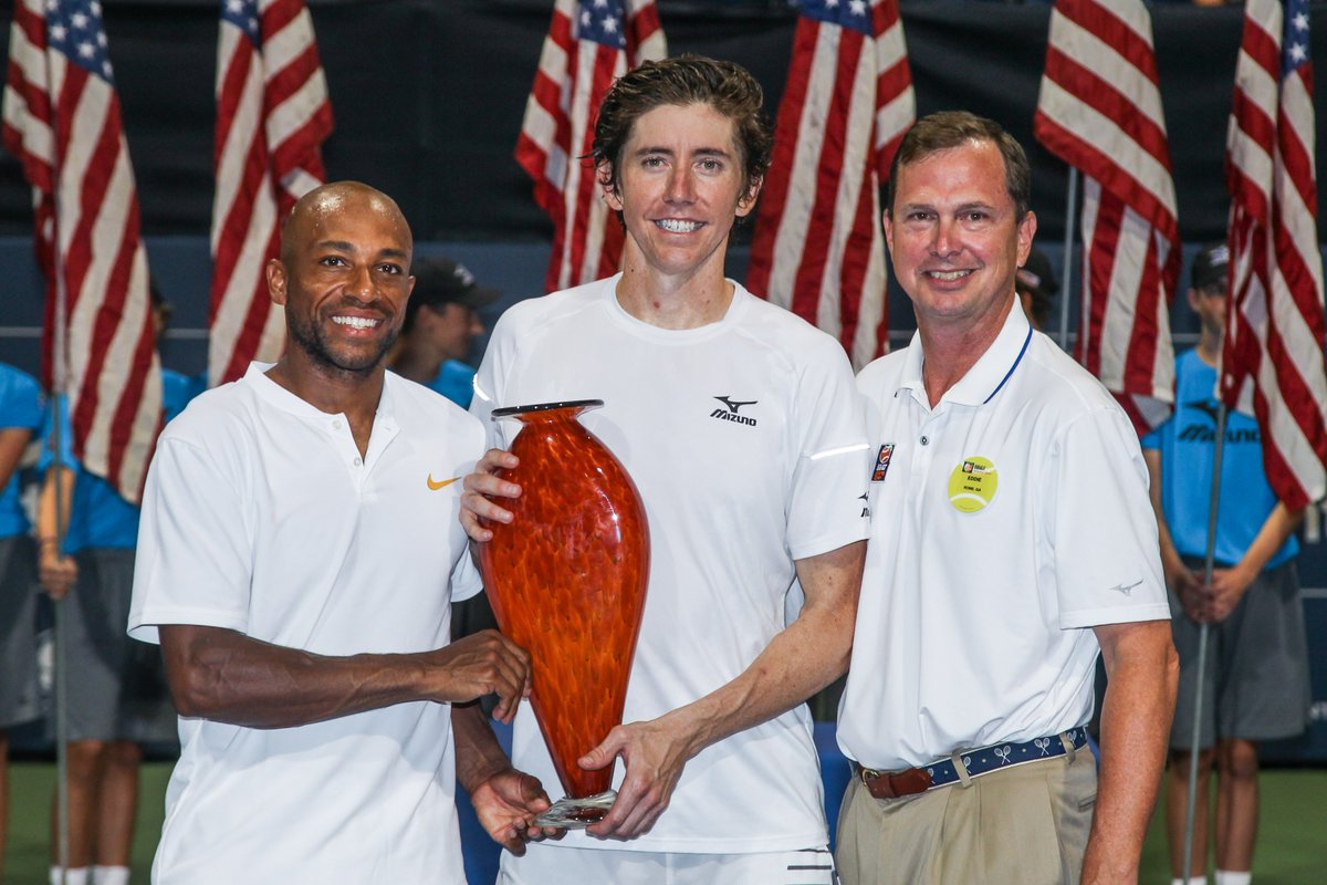 #AtlantaOpen doubles championship feels 👉 @NickATP @jpatsmith #USOpenSeries