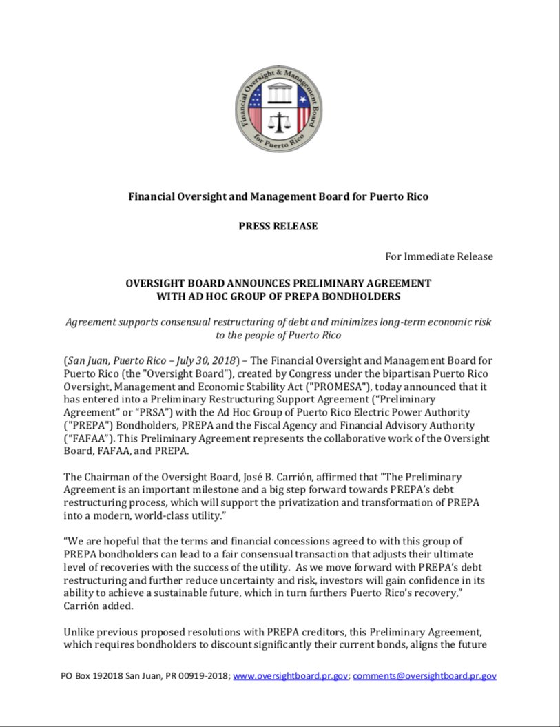 Financial Oversight & Mgmt Board for Puerto Rico on Twitter