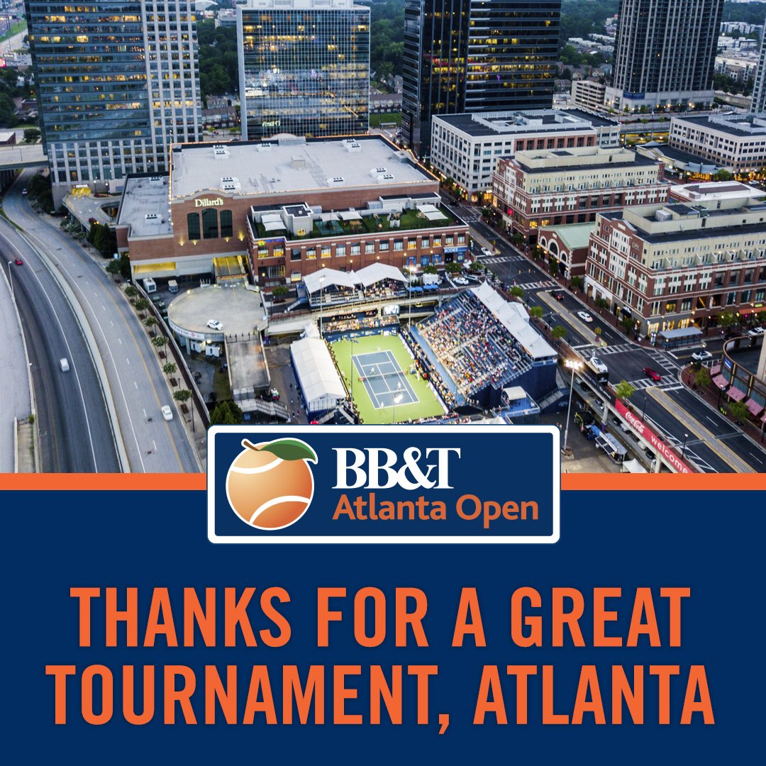It was epic because of you. Thank you for your support. #AtlantaOpen #USOpenSeries
