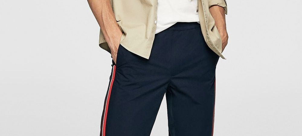 7341bdafc0 now s the time to be wearing side stripe trousers these are the best on the