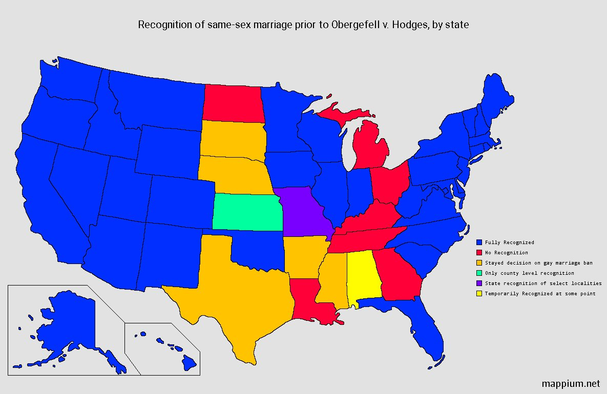 Gay Marriage United States Map.Mappium Maps On Twitter State Recognition Of Same Sex Marriage