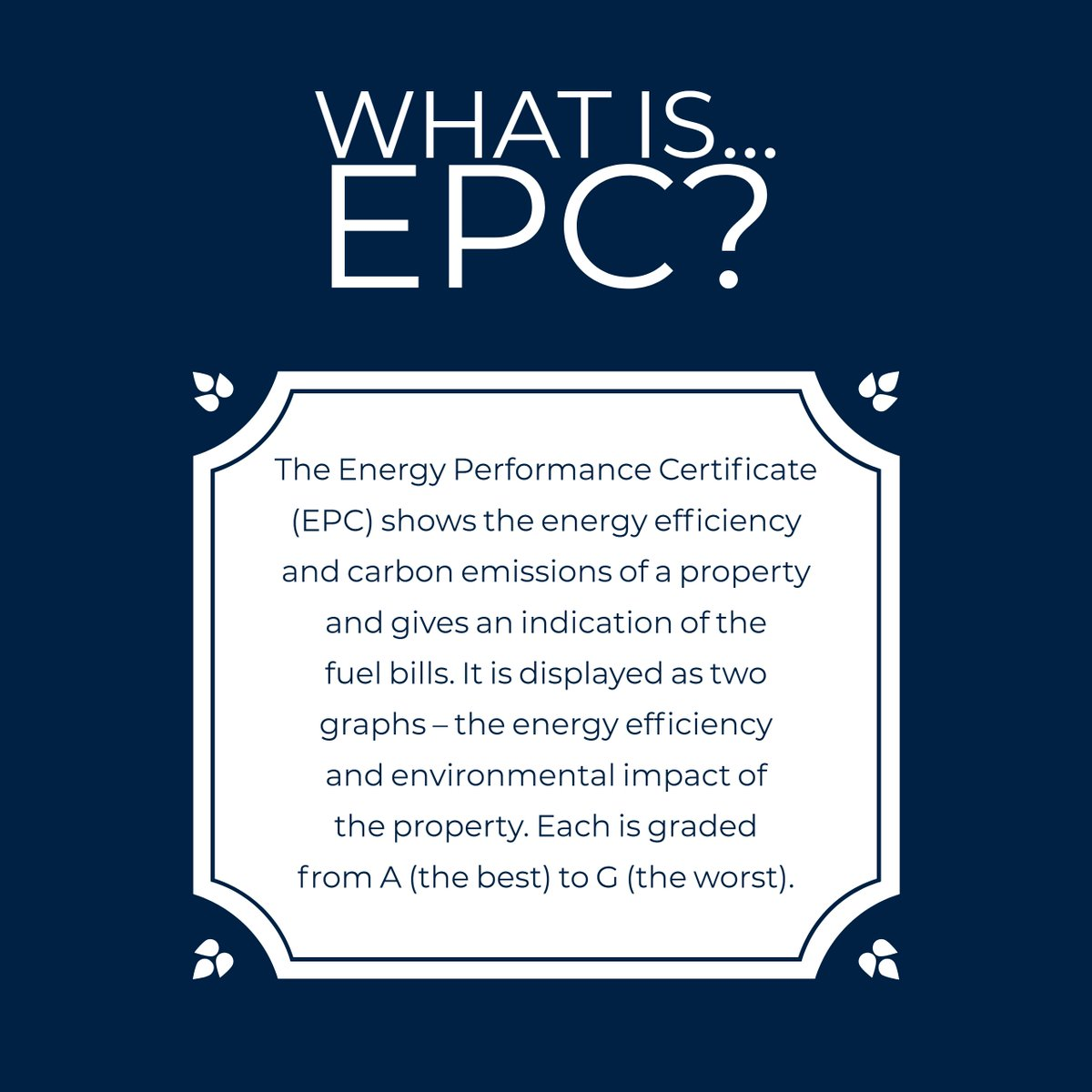 What Is Epc >> Sinclairestateagents On Twitter What Is Epc In The