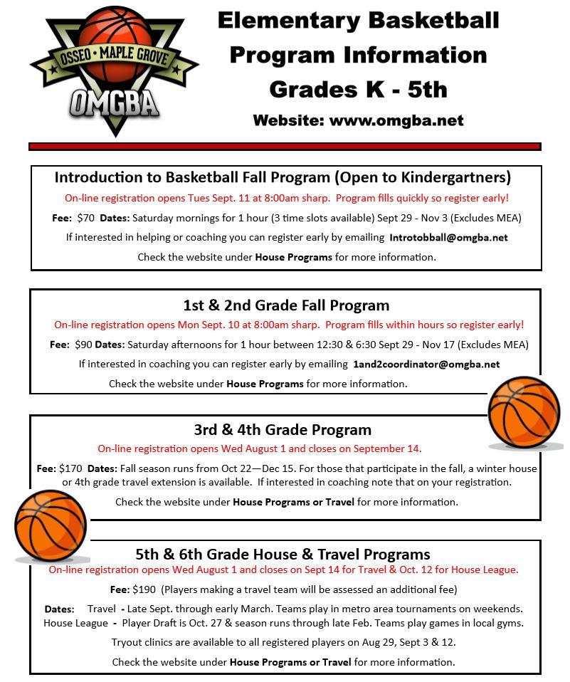 OMG Basketball On Twitter OMGBA Elementary Flyer Will
