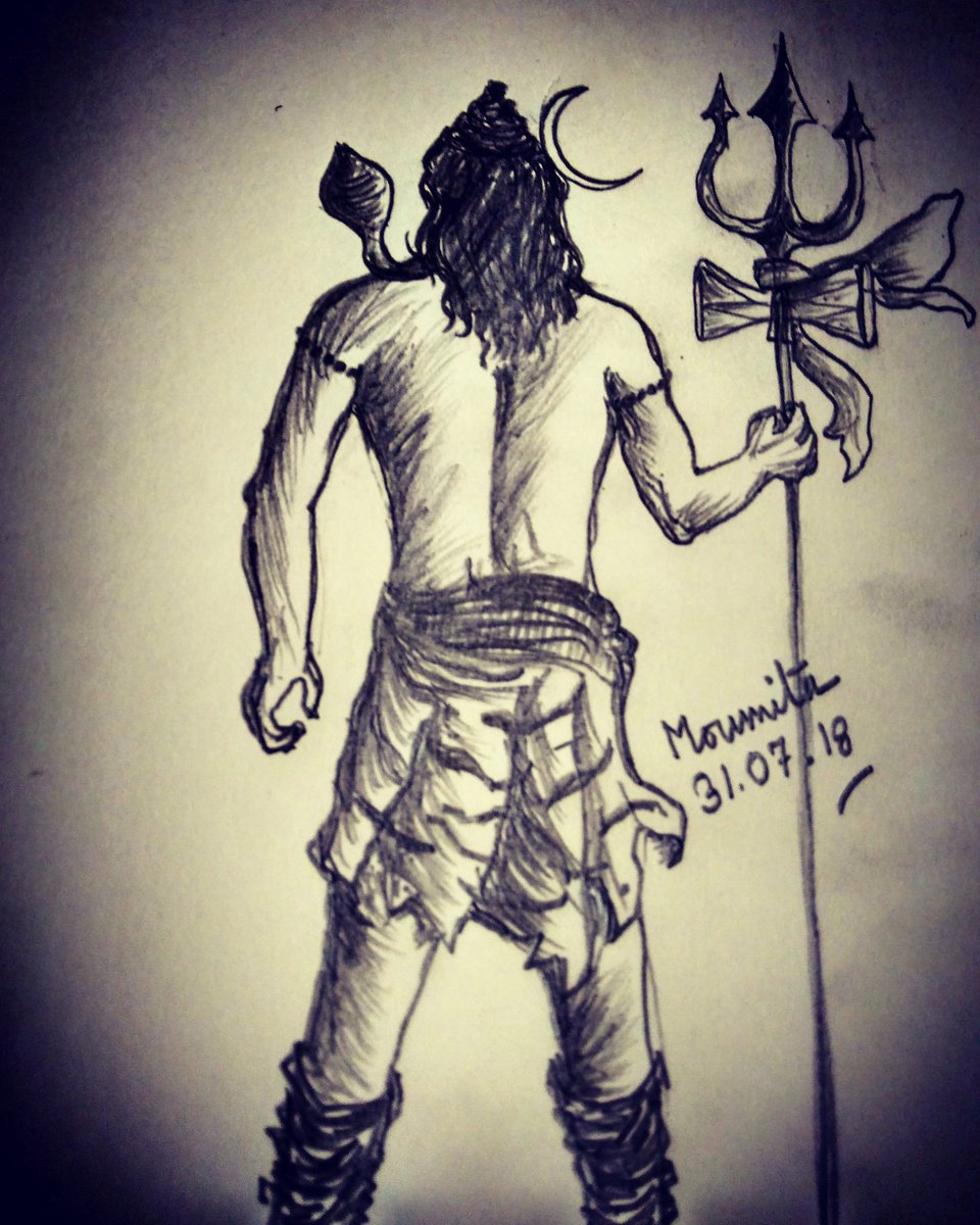 Moumita🇮🇳 on twitter i made this with my little drawing ability mahakaltwitter mahakal shiva mahadev