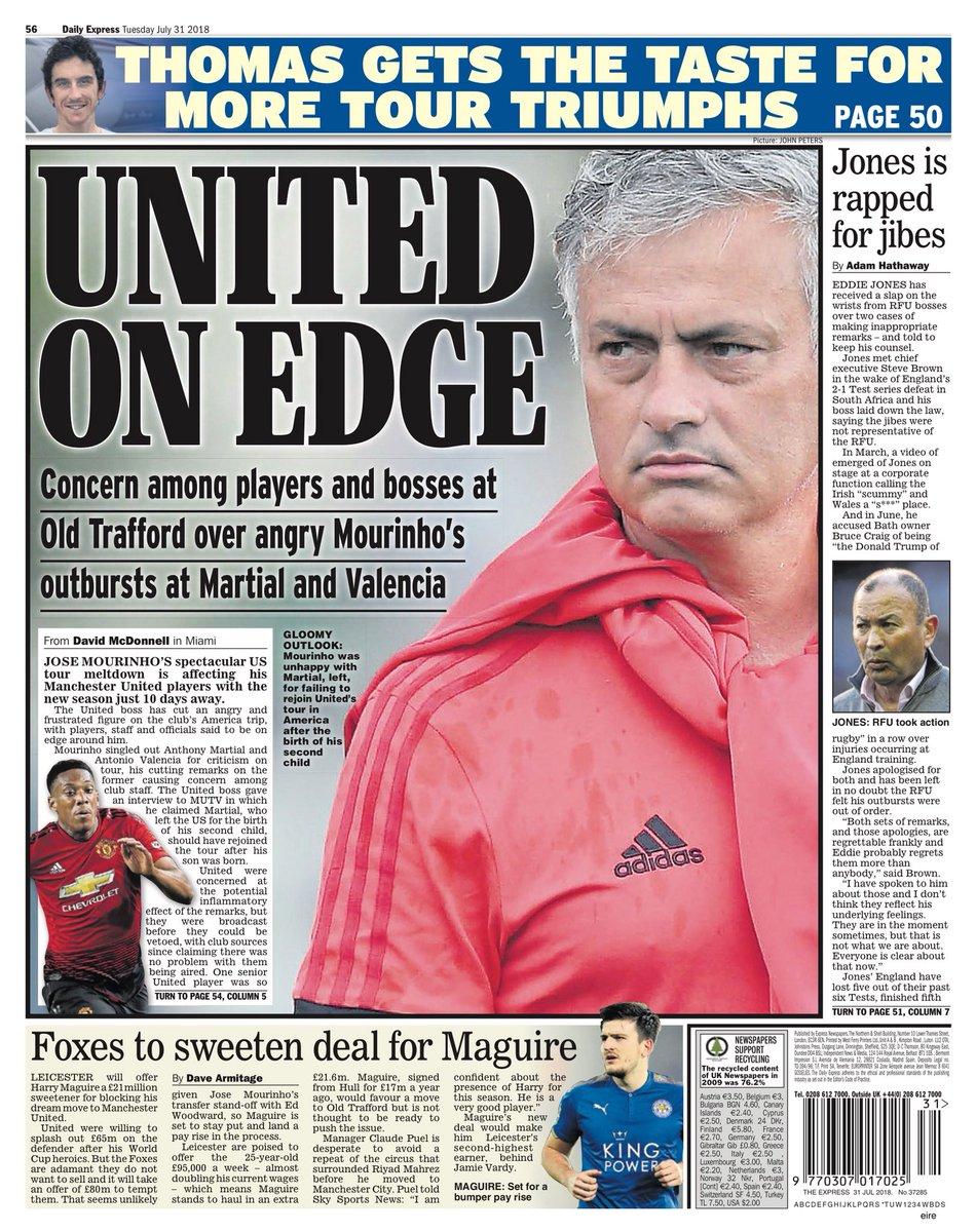 d48b7fcccc A principal pauta esportiva dos jornais britânicos nesta terça-feira (31)  gira em torno da bagunça que se tornou o United. É só dar uma olhada nas  capas do ...