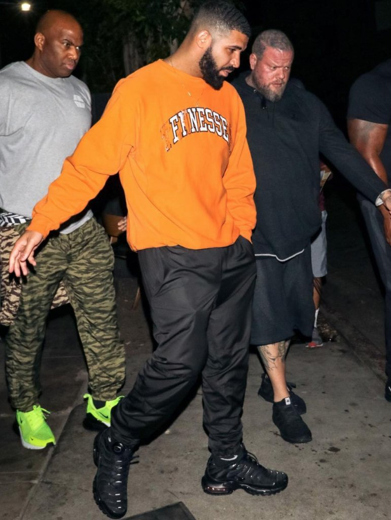 f3b5fb6fa6 drake spotted wearing the nike air max plus in stores and online now  weknowgame shop