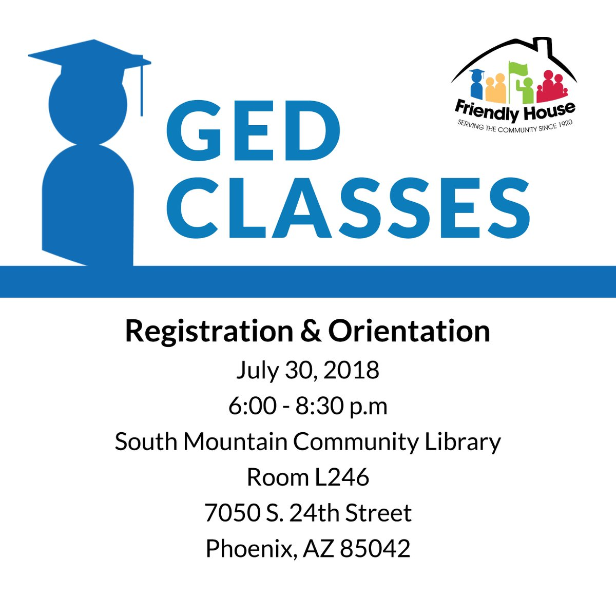 Free GED classes! Registration and orientation today. More info at  https://t.co/OxQ0tiFv1S. #GED #education https://t.co/QniAr85iR8