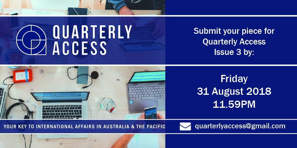 We are currently taking submissions for our next issue! If you are a student, research or young professional get your voice heard on international issues. Find out more at bit.ly/2u6KA05 @AIIANational @ausoutlook