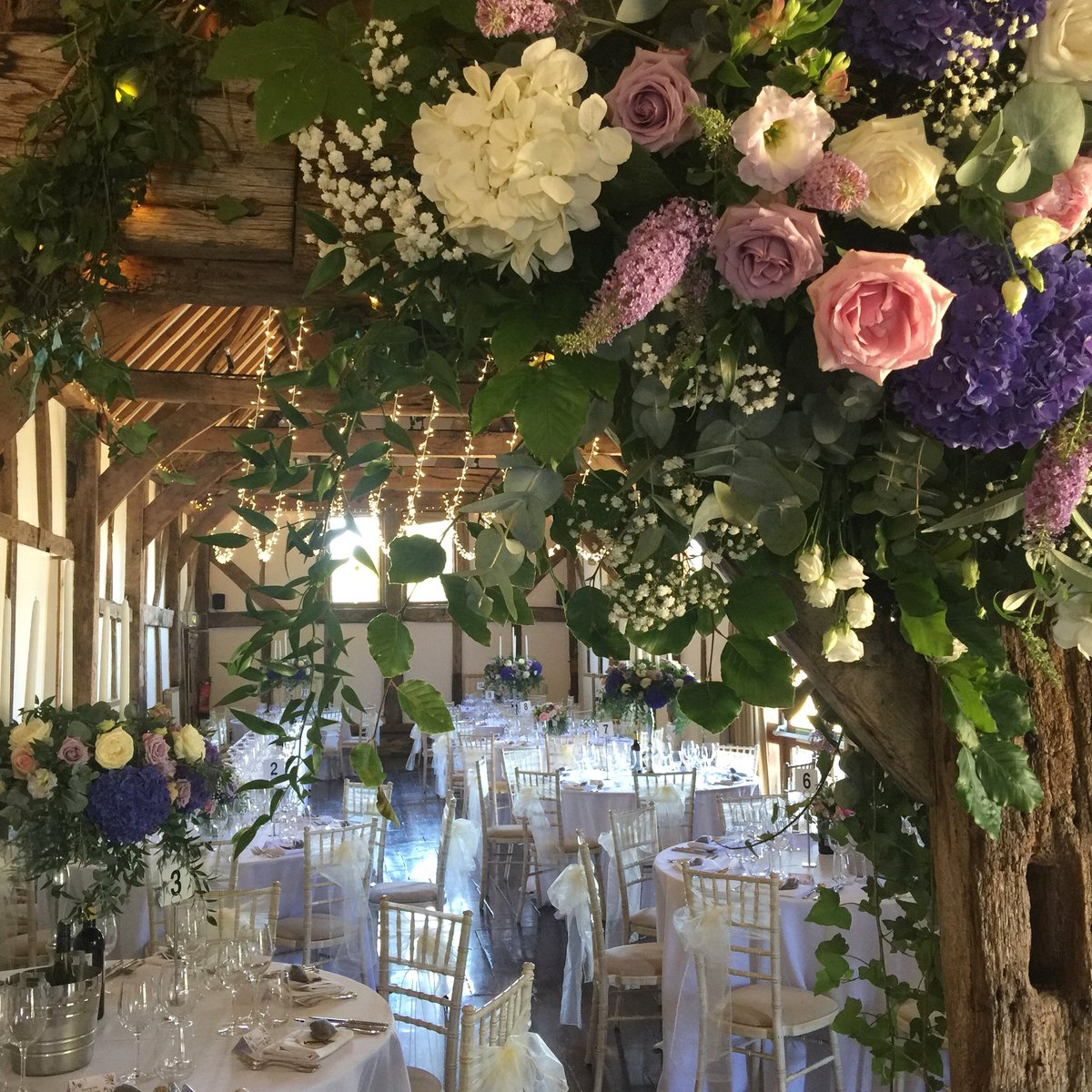 Just getting over a busy weekend of #weddings. Each one a different vibe with flowers from The Gorgeous Flower Company #barnwedding #beautifulvenue #weddingflowers #gorgeouscolours #bluehydrangea #fairylights #summerwedding #happyday