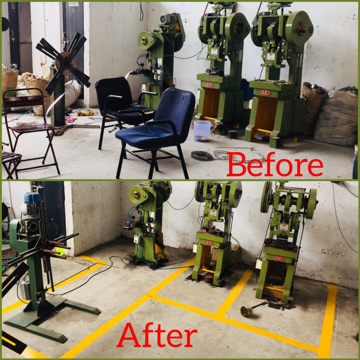 "Leanfit On Twitter: ""lean Management Before And After. #lean #management #5s #floormarking"
