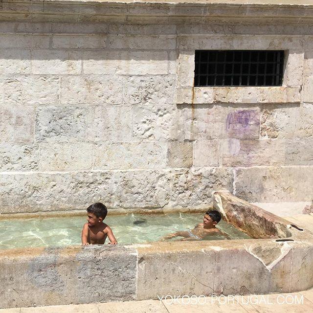 test ツイッターメディア - アルファマ地区の広場で水遊びする子供。先週は43度まであがったリスボンの天気も、今週は落ち着きそうです。今日の最高気温は26度の予報です。 #リスボン #ポルトガル https://t.co/KLudnfaeRe