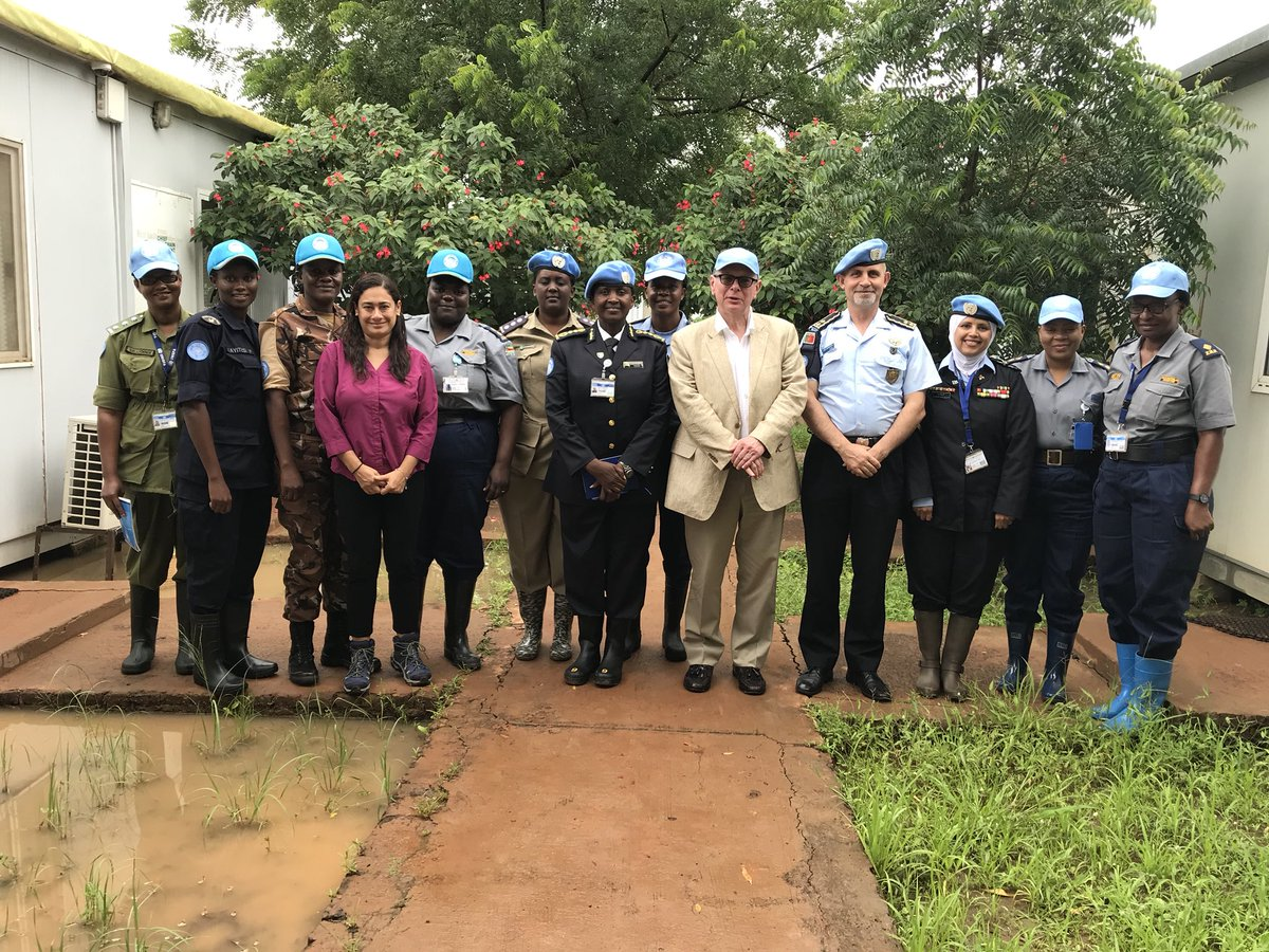 #UNPOL Female Police Officers in UNISFA are contributing for a better future for all / Keep up the good work  and always strongly motivated #UN #PEACEKEEPING #OROLSI #POLICE