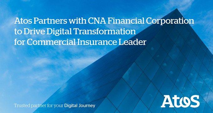 Atos acompañará a @CNA_Insurance en su migración hacia una arquitectura de TI más moderna...