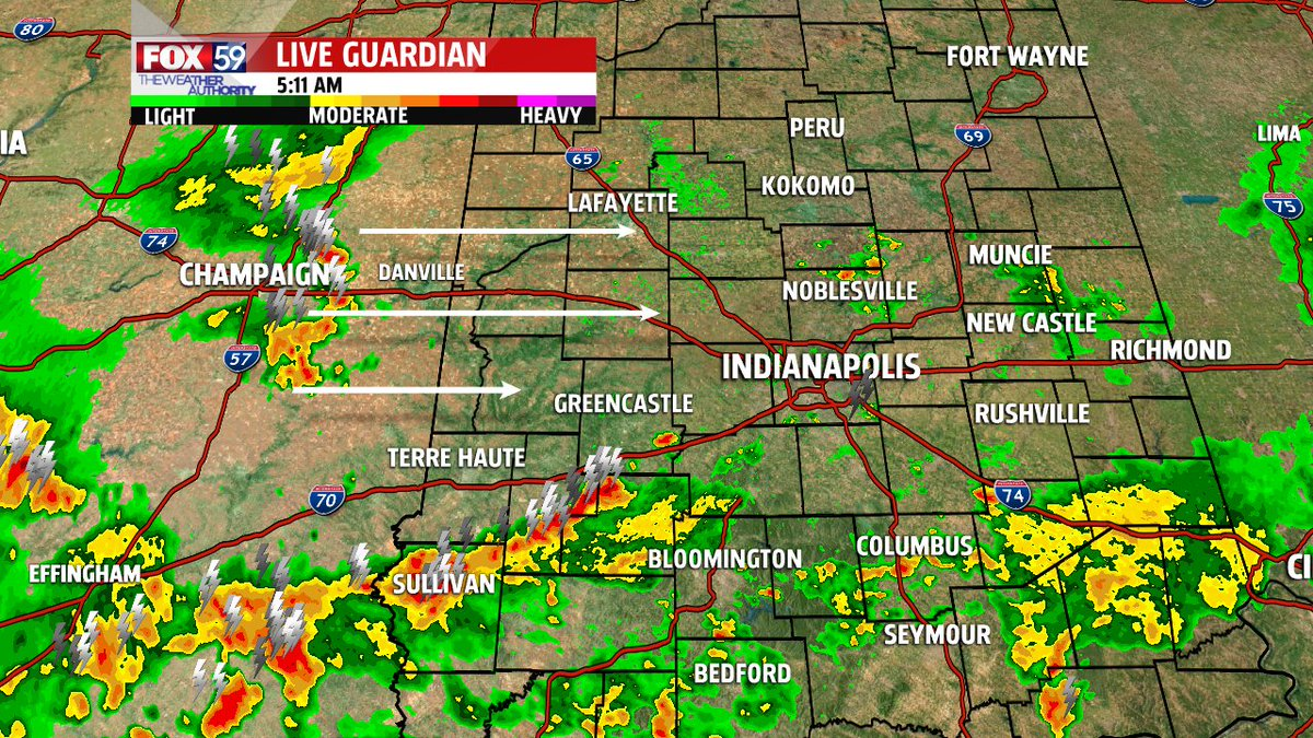 Storms continue to move across the state, this will be the pattern all day!  With some dry periods in between... @fox59 @theWXauthority #FOX59Morning <br>http://pic.twitter.com/2CmaurCBBi