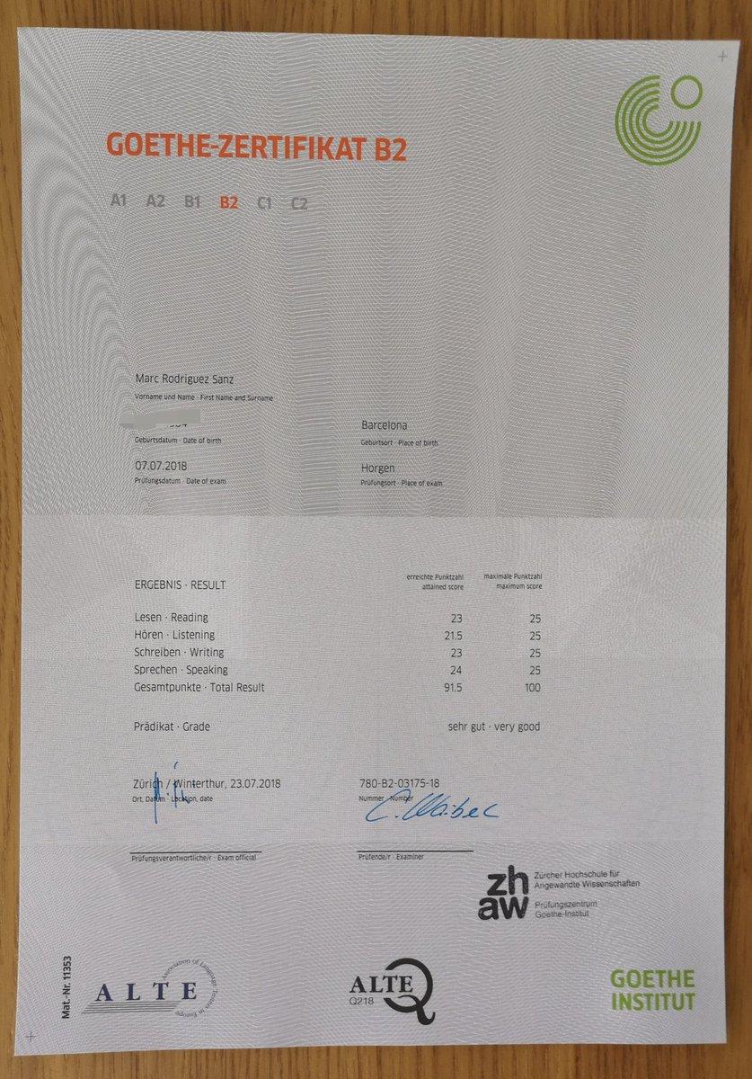Marc Rodriguez Sanz On Twitter Goethe Zertifikat B2 Bestanden