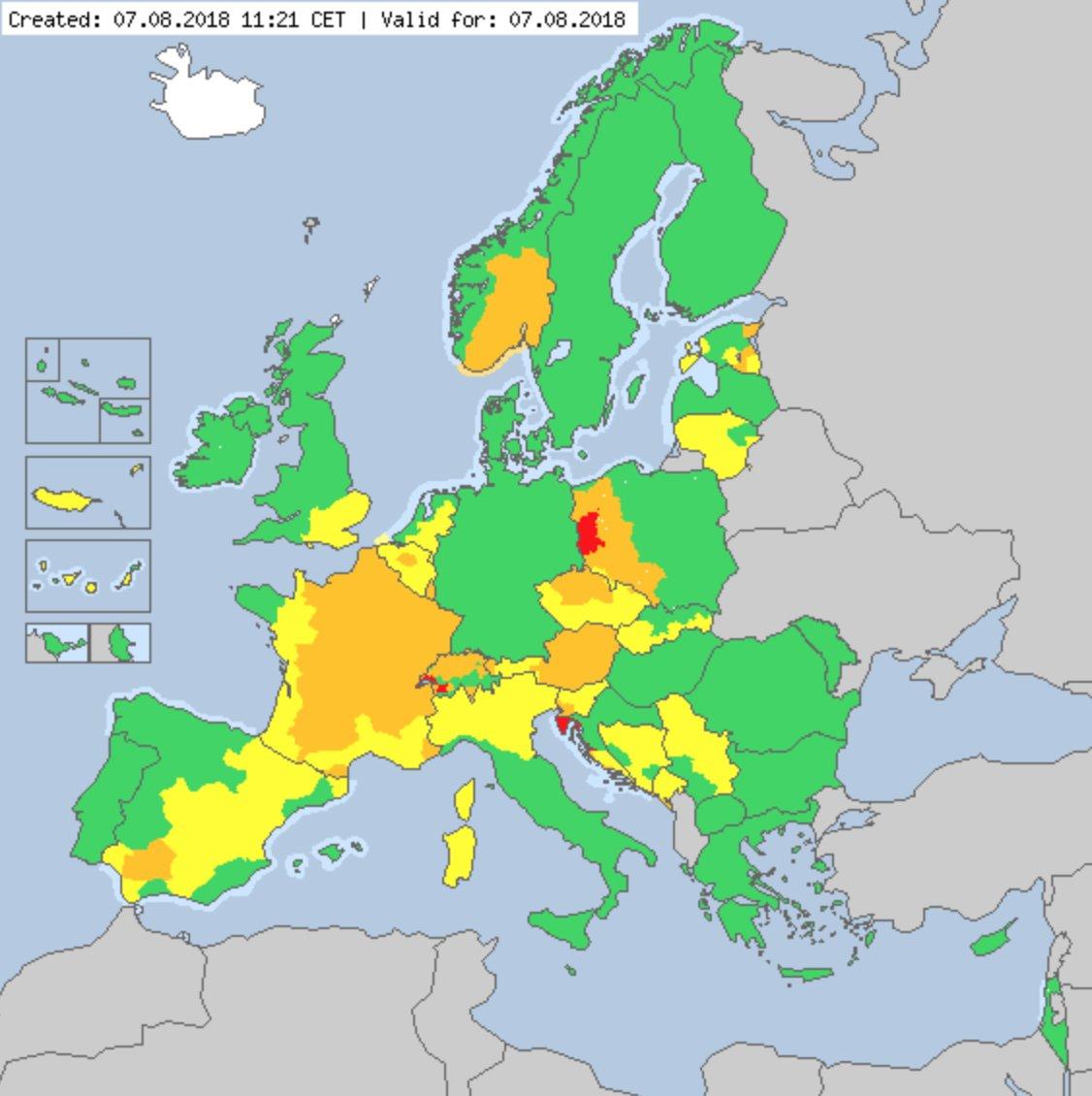 alertas de calor na Europa