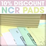 Image for the Tweet beginning: 10% DISCOUNT on NCR pad