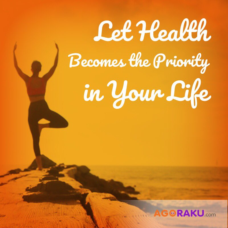 agoraku on let health becomes the priority in your life