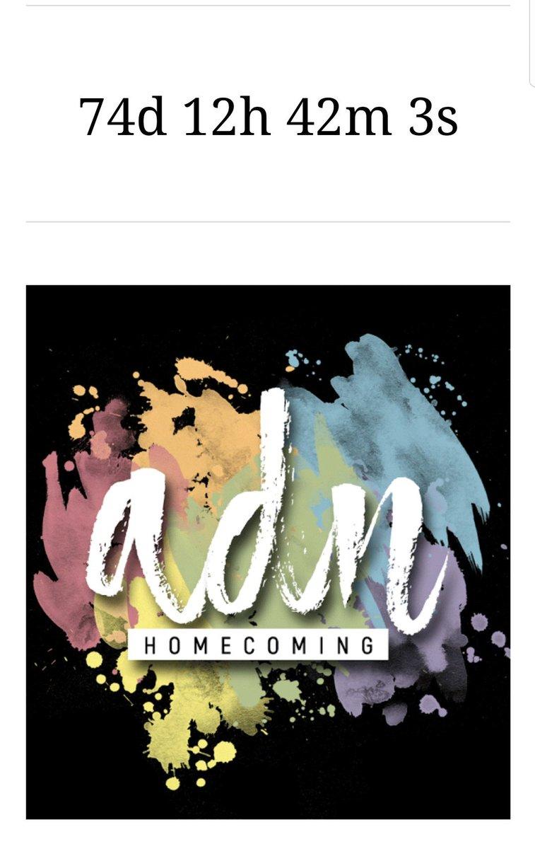 74 Days to go til ADN Homecoming   #ADNHomecomingSoon #ALDUBBeyondKilig #VMGoodbyeMjolnir<br>http://pic.twitter.com/1qJycD1n9o