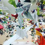 Image for the Tweet beginning: Artspace: thinking nature #origamibird