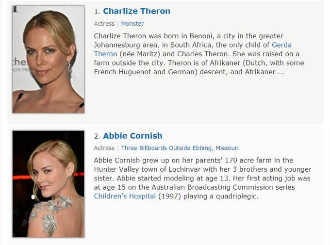 Happy birthday to Charlize Theron and... her... understudy?