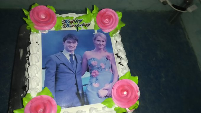 Harry and J.K rowling happy birthday this is for you