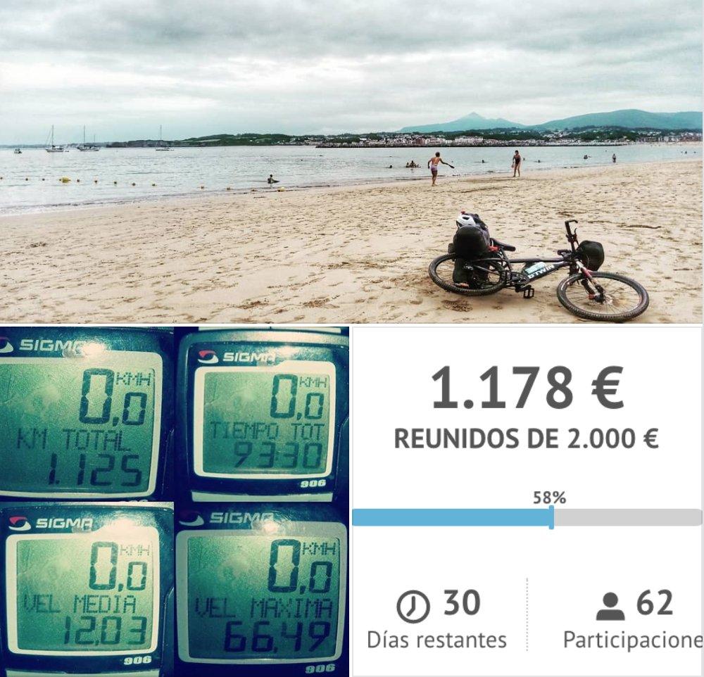 Ayuda al Reto solidario de Daniel Rodriguez: Cruzar España en bici. Recaudar al menos 1€ por cada km recorrido. leetchi.com/c/pedales-x-ta… #solidaridad #ong #cooperación