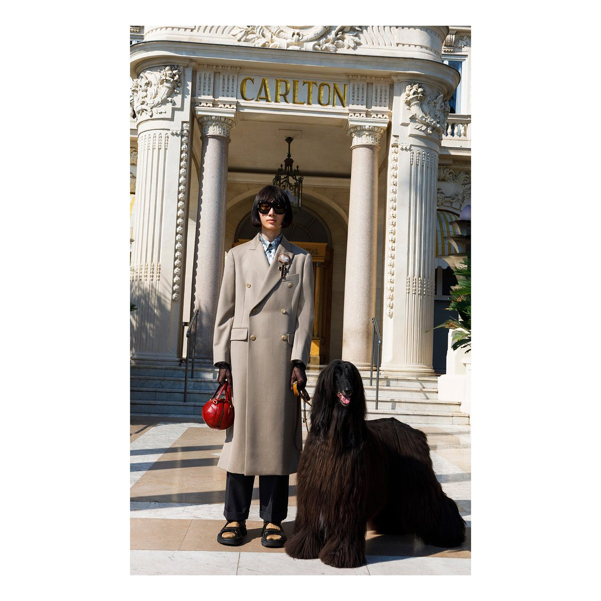 At the entrance to the @CarltonCannes Hotel in an image by @parrstudio , part of the men's #GucciCruise19 look book.