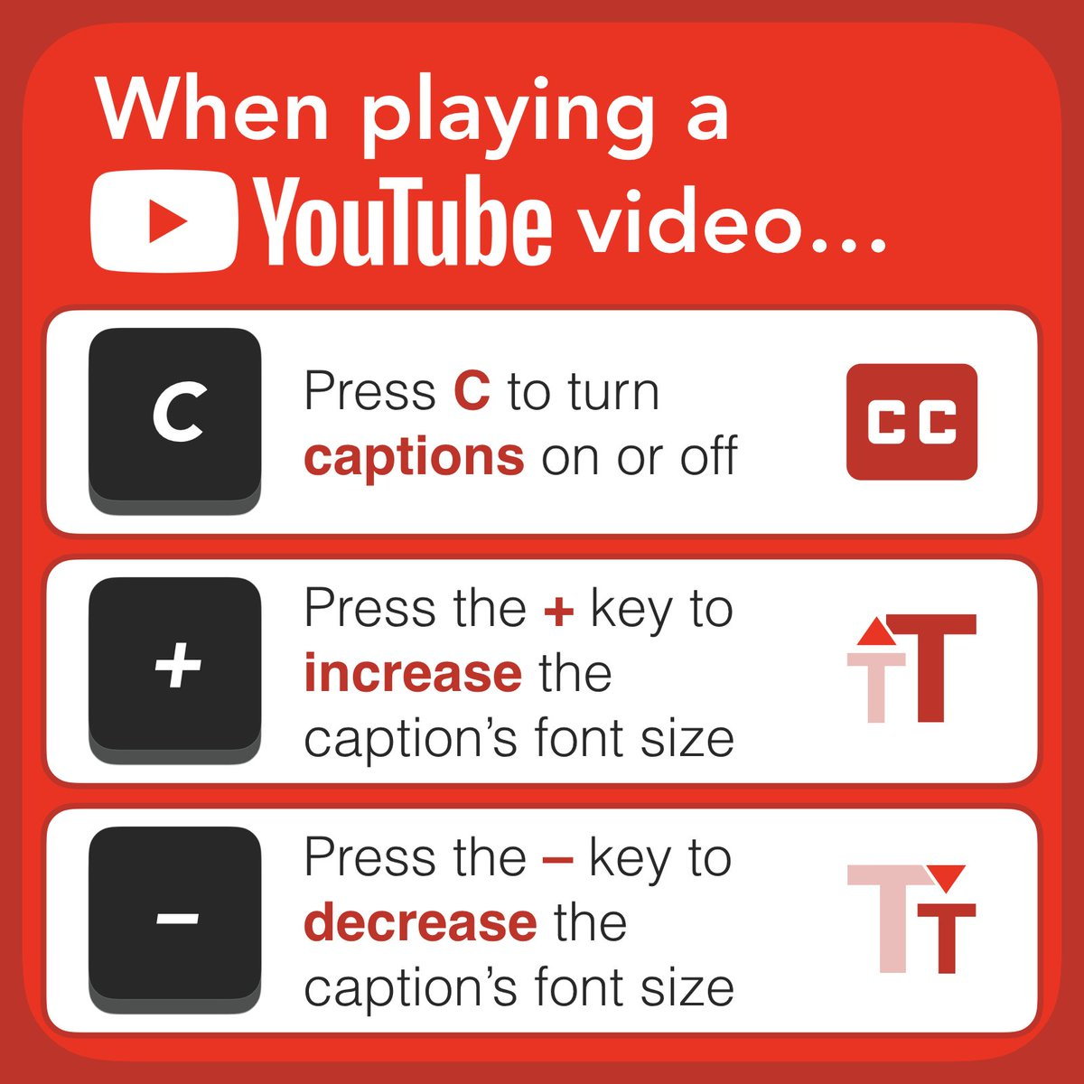 Tony Vincent On Twitter Youtube Has A Keyboard Shortcut For